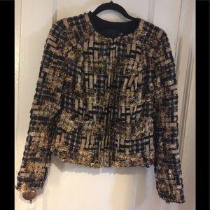 Carlisle Black & Gold Metallic Boucle Jacket